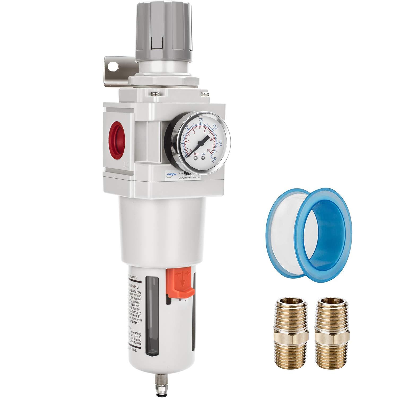 Filter Regulator Lubricator Operating Pressure: 145 psi 1//8 NPT Three-Piece