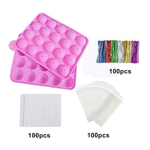 Juego de moldes de silicona para tartas sin BPA, 100 palitos de ...