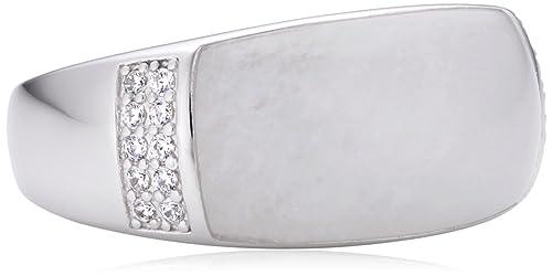 Fossil Damen-Ring 925 Sterling Silber Zirkonia weiß JFS00178040