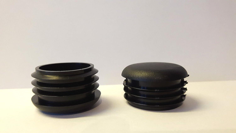 para tubos redondos cabeza redondeada con l/áminas 20 Deslizador//tap/ón negro pl/ástico