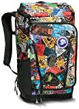 The North Face Kaban Transit Backpack TNF Red Sticker Bomb Print/TNF Black