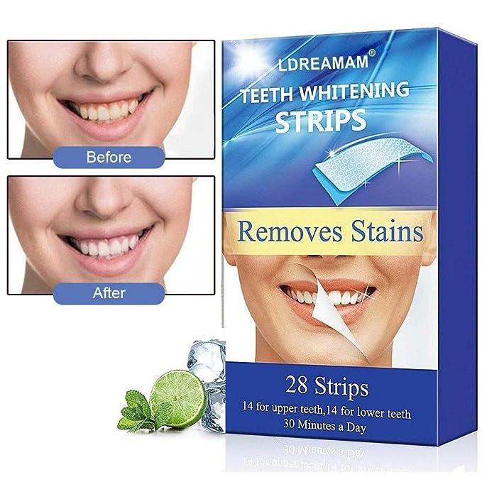 150 opinioni per Strisce Sbiancanti,Teeth Whitening Strips,Strisce di Sbiancamento Dei