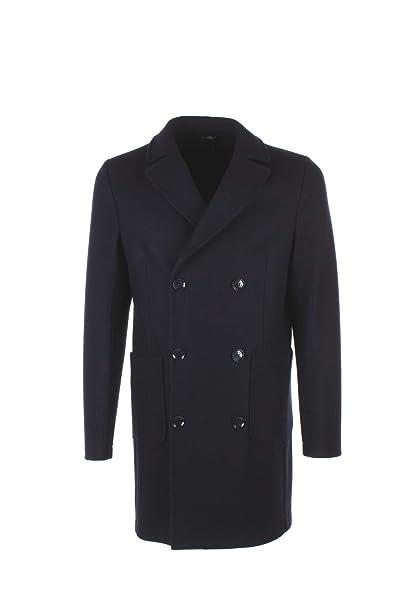 DANIELE ALESSANDRINI GREY uomo cappotto blu T477M4873806