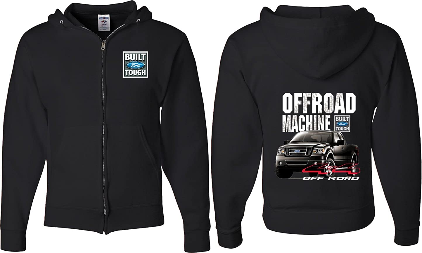 Buy Cool Shirts Ford F-150 Off Road Machine (Front & Back) Full Zip Hoodie