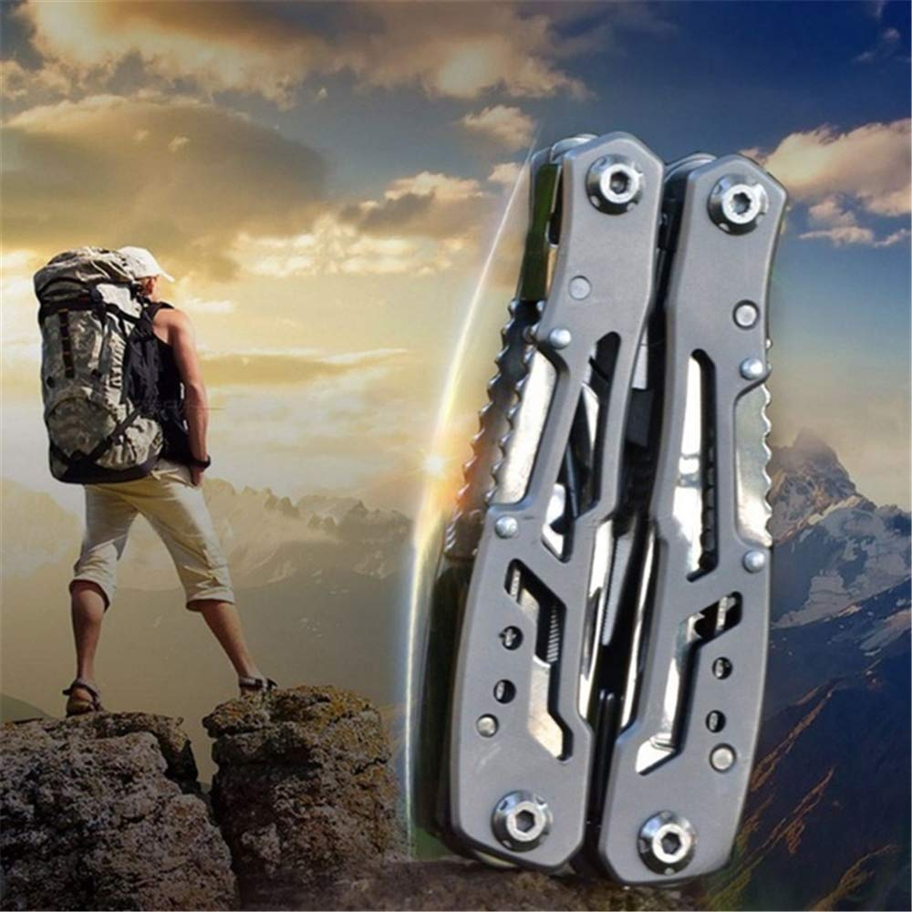Multitool 15-in-1 Versatile Repair Pocket Multi-Tool for Camping Hiking Outdoor Rustproof Stainless Steel and Ergonomic Design Aluminum Handle Amazing