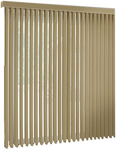 spotblinds TAN – Cordless – Custom-Made, Premium PVC Vertical Blinds – Assembled in The US – Exact Width Length from 67 Wide to 94 Long. Receive a 80 W x 94 L Vertical Blind.