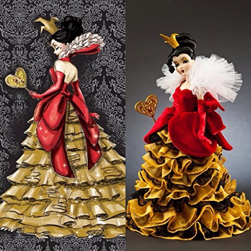 (Queen of Hearts Disney Villains Limited Edition Designer Collection Doll with Certificate of Authenticity)