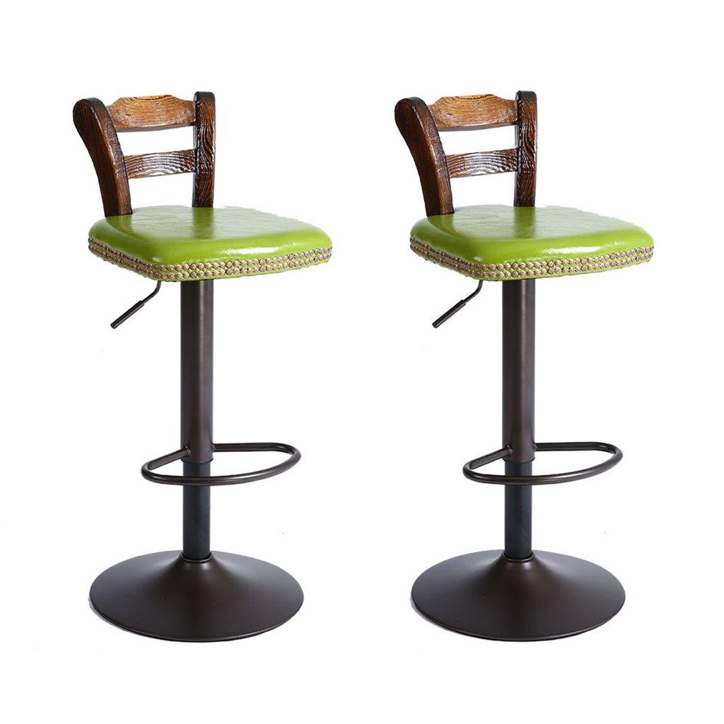 XUEPING バースツール/チェアカウンターチェア360度回転スピンオフィスチェアキッチンレストランバースツール/チェア6色Four Seasons Single/Double Chair (色 : A×2) B07DVCWSB7 A×2 A×2