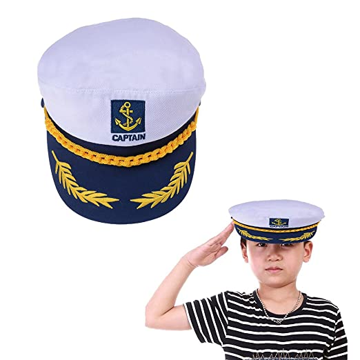 Amazon.com  Welecom Sailor Captain Hat Embroidery Boat Ship Sailor Hats  Adjustable Navy Hat Children  Clothing 5b95cd6eea7