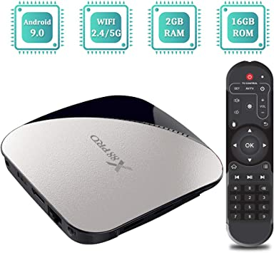 Sidiwen Android 9.0 TV Box X88 Pro Set Top Box 2GB RAM 16GB ROM RK3318 Quad-Core CPU Ethernet 2.4G/5G Dual Band WiFi USB 3.0 Support 4K H.265 Internet Media Player: Amazon.es: Electrónica