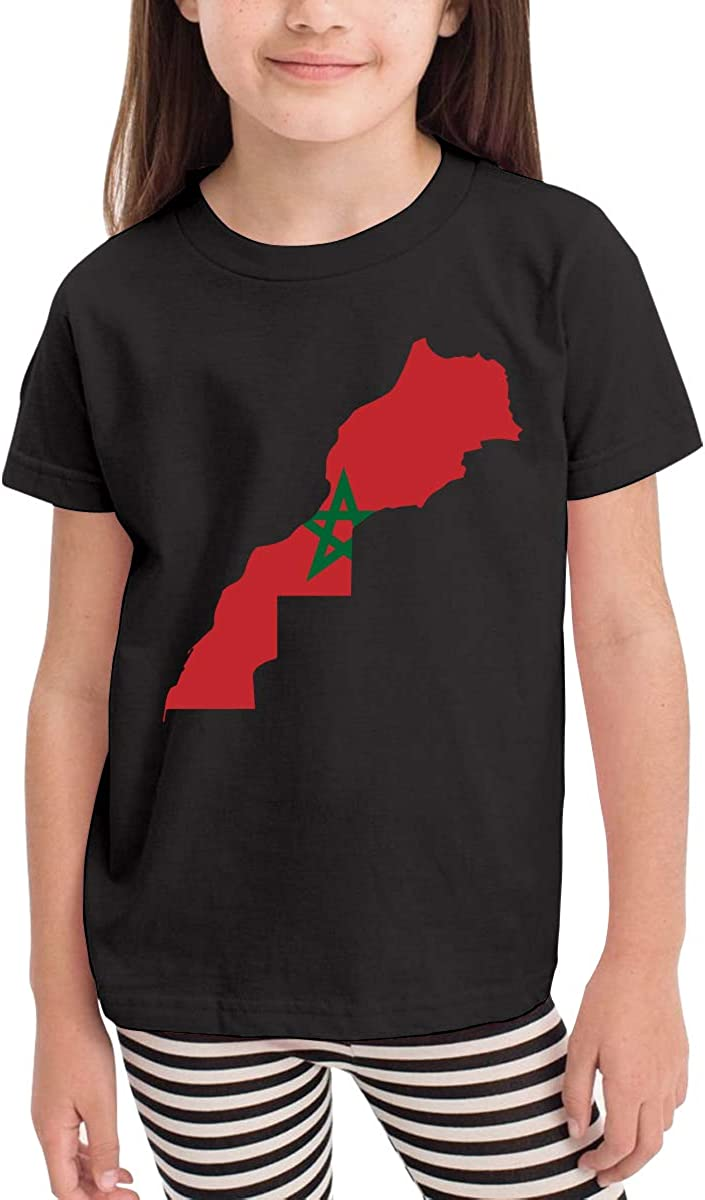 Baby Girls Little Boys Morocco Map Cotton Short Sleeve Tee Tops Size 2-6