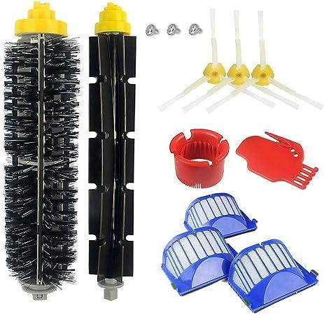AplusTech Pack Kit Repuestos y Accesorios Filtro y Cepillo Lateral Compatible con Aspiradora iRobot Roomba Serie 600 :605 610 616 620 625 630 631 632 639 650 651 660 670 680 681 691 -Pack de 13PCS: Amazon.es: Hogar