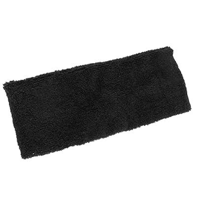 bandeau elastique de sport - SODIAL(R) bandeau de protection de sport Bandeau souple Bande elastique anti sueur noire