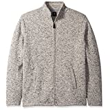 Dockers Men's Big and Tall Long Sleeve Solid Full Zip Sweater Fleece Mock, Foil Heather, 3X-Large
