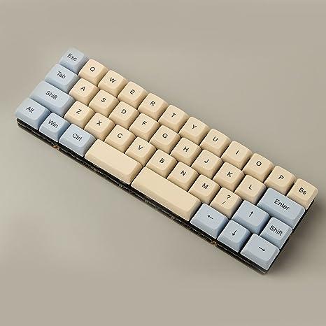 Amazon com: YMDK 40% Customized XDA Dye Sub Tiramisu Keycap Keyset