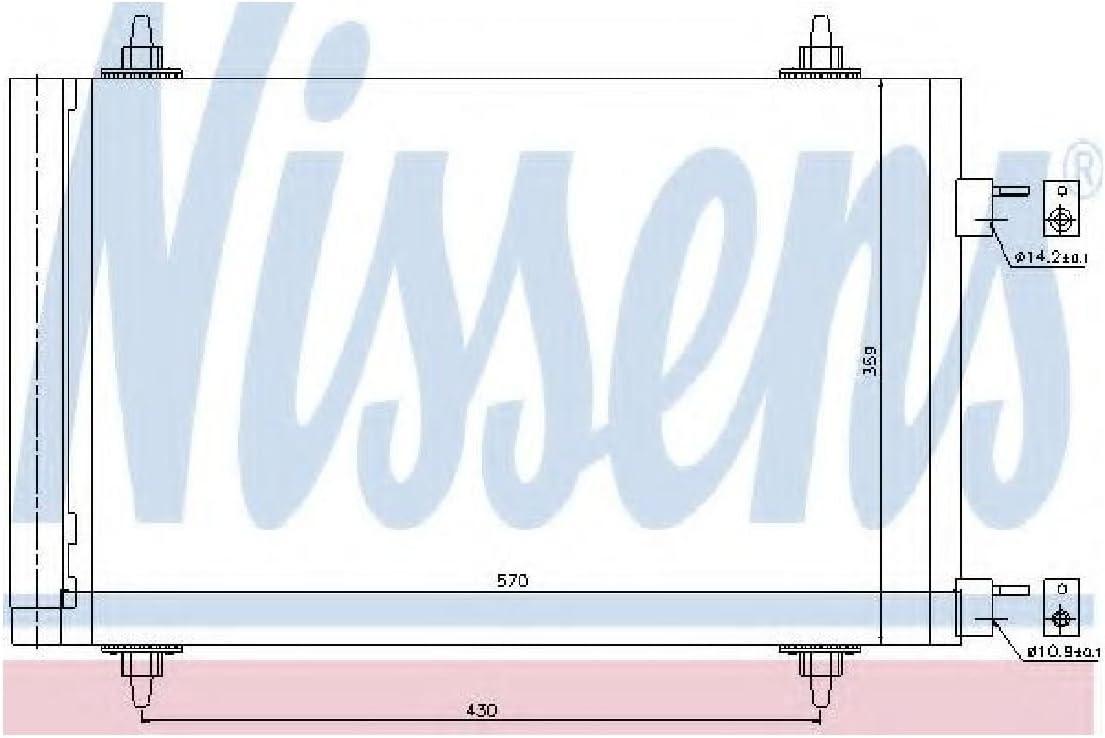 Klimaanlage NISSENS 94758 Kondensator