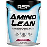 RSP AminoLean - Amino Energy + Fat Burner, Pre Workout, Amino Acids & Weight Loss Powder for Men & Women, Blackberry Pomegranate, 30 Servings