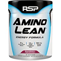 RSP AminoLean - All-in-One Pre Workout, Amino Energy, Weight Loss Supplement with Amino Acids, Complete Preworkout Energy & Natural Fat Burner for Men & Women, Blackberry Pomegranate, 30 Servings