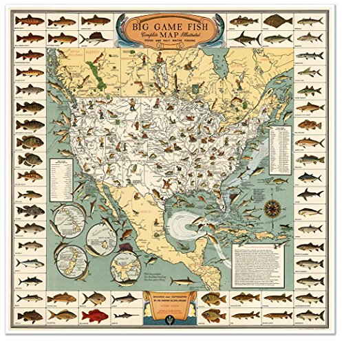 Antiguos Maps - Pictoral Map of The USA