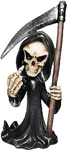 Muse Design Middle Finger Grim Reaper Gothic Decor Sculptures Statues Art Resin Decorations