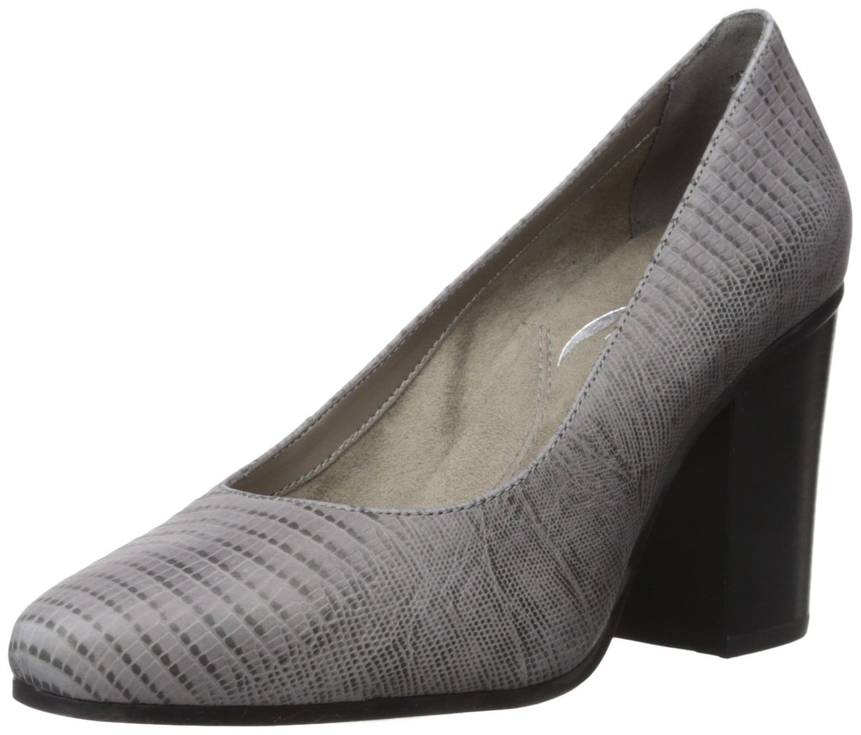 Aerosoles Women's Union Square Pump B073RPYNV4 12 B(M) US|Grey Lizard