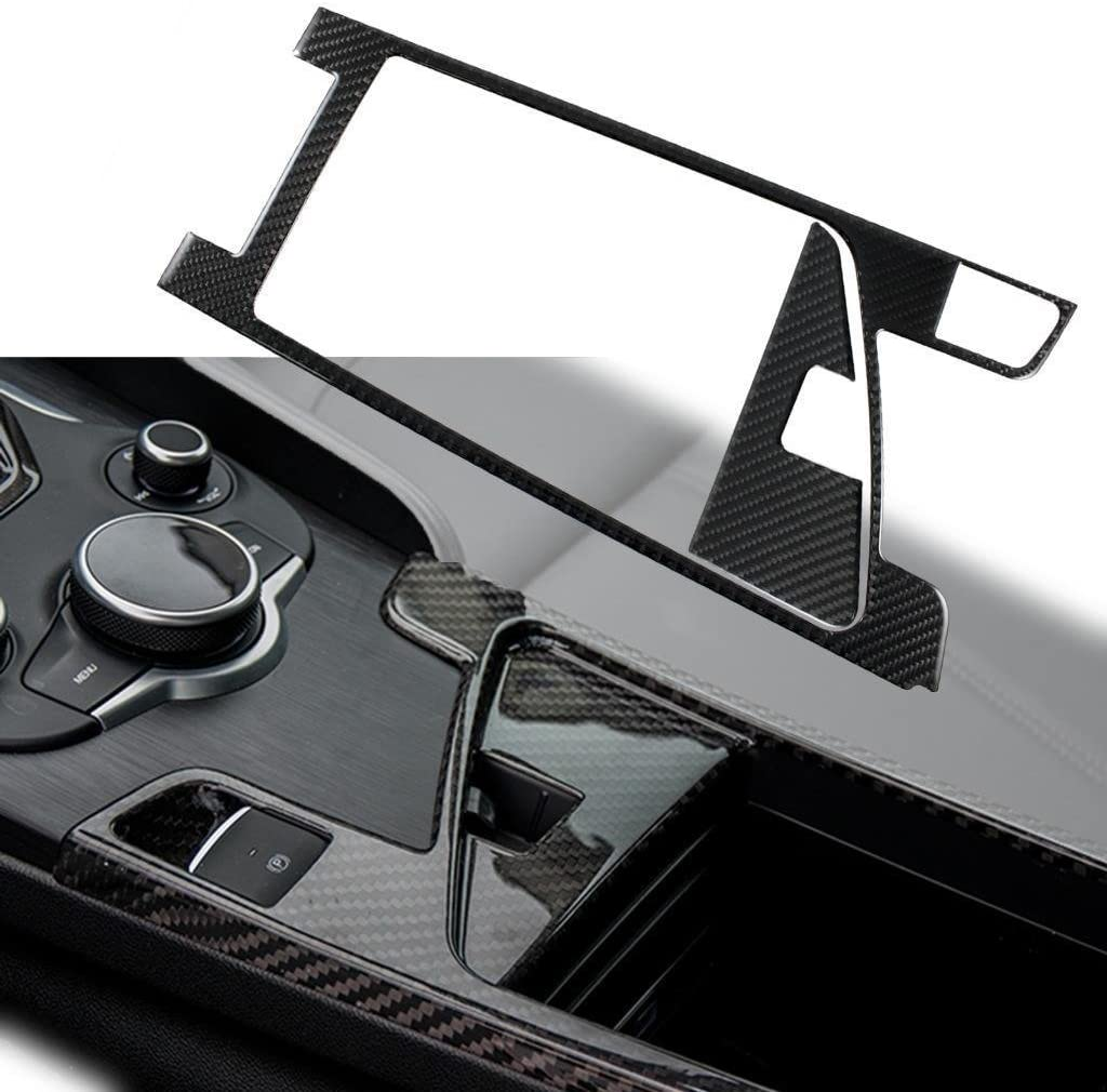 Xotic Tech Carbon Fiber Car Interior Central Console Storage Box Panel Trims Cover for Alfa Romeo Giulia 2017-up