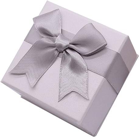 Chakil - 1 caja de regalo para joyas, anillos, collares y otros accesorios pequeños, cartón, Blanco, 7*7*4.5CM: Amazon.es: Hogar