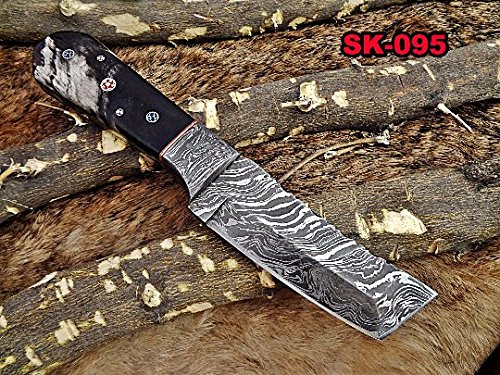 """Used, 8"""" Long Hand Forged Damascus Steel Full Tang Tanto for sale  Delivered anywhere in USA"""