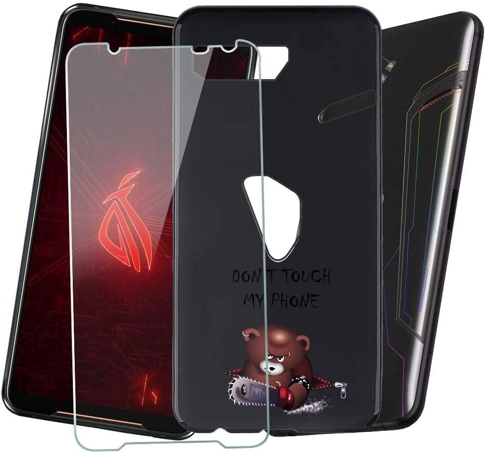 DYSu Funda para ASUS Rog Phone II/ASUS Rog Phone 2 ZS660KL,Black ...