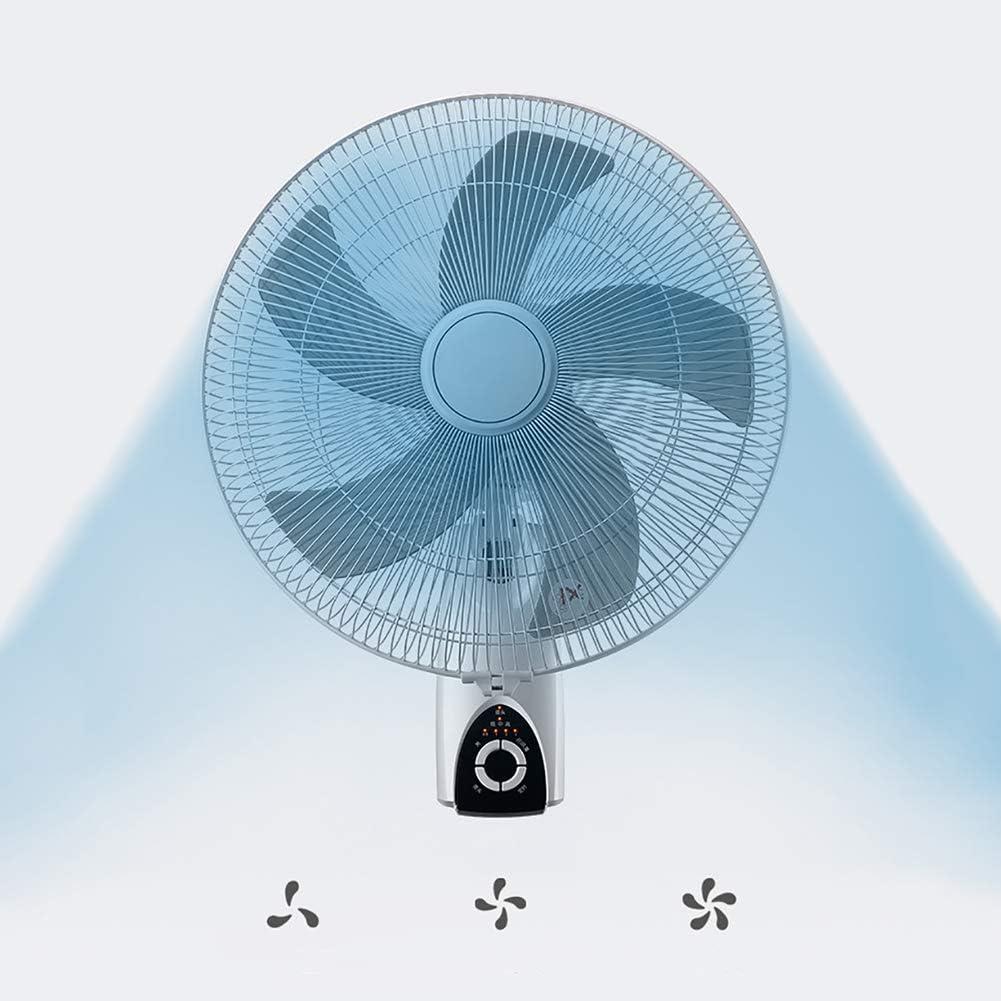 Ventilador con control remoto, 3 velocidades Ventilador de Pared escritorio de la pared aficionados Temporizador zócalo para cualquier lugar,Blanco