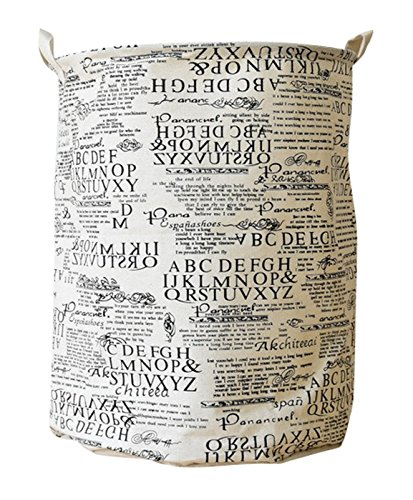 CLOCOR Collapsible Round Storage Bin /Large Storage Basket/Clothes Laundry Hamper/Toy Books Holder (Newspaper)