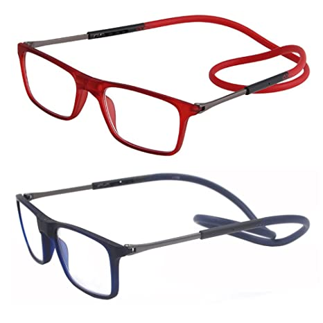 7a0f7b463c Pack de 2 gafas de lectura plegables por delante y ampliables para mujeres  y hombres que