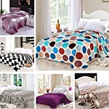 Multi-functional 7 Styles Flannel Bedding Blanket Soft Warm Flat Quilt