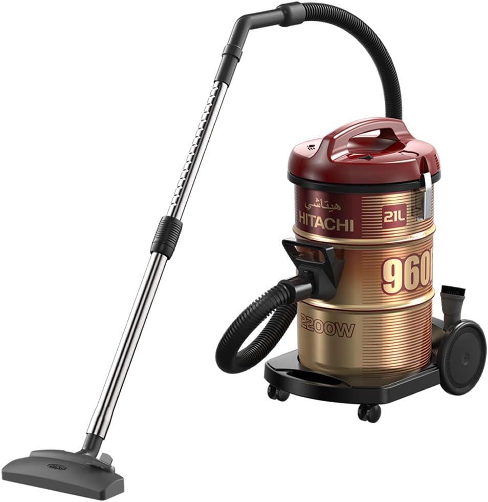 Hitachi Vacuum Cleaner, Drum Type, 18L, 2100W, Red - CV-950F SS220 WR