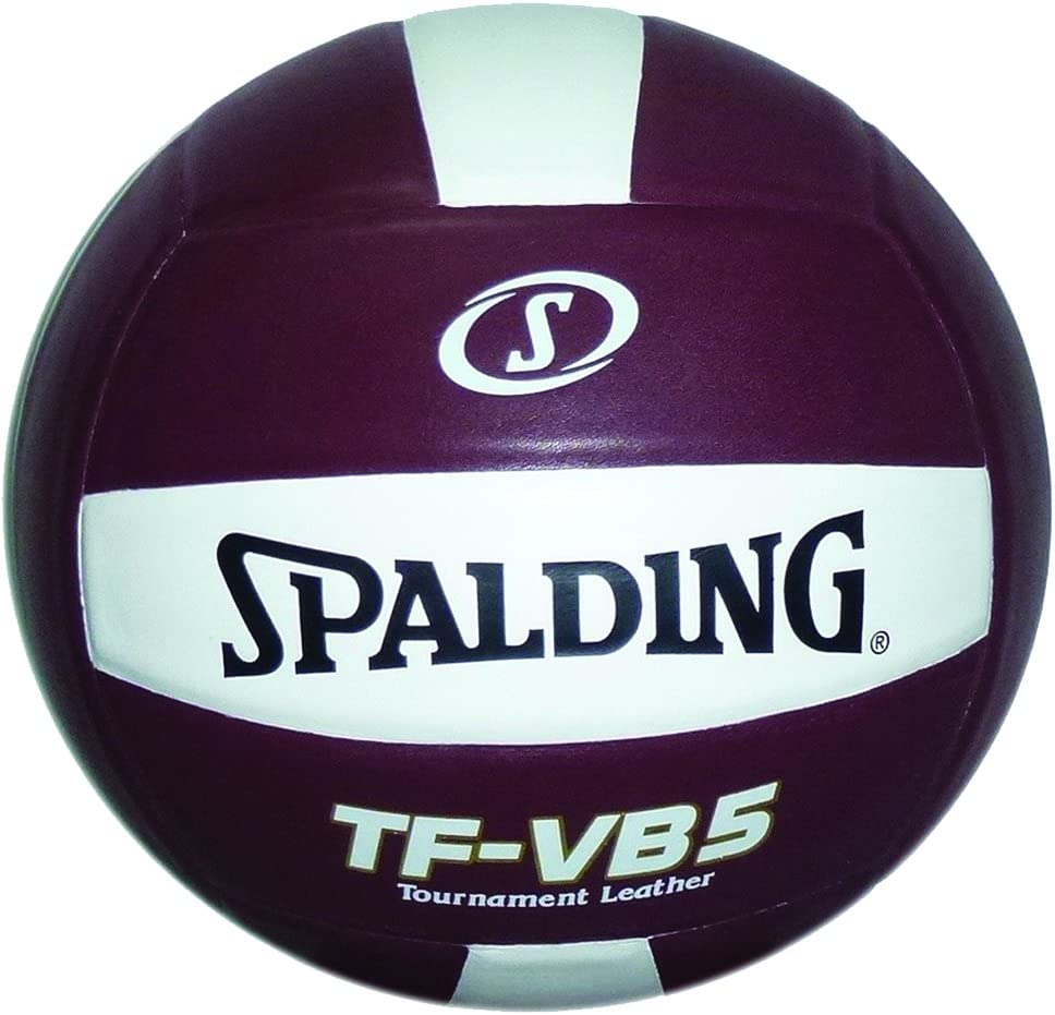 Spalding TF-VB5 NFHS Competition Volleyball (Maroon/白い)