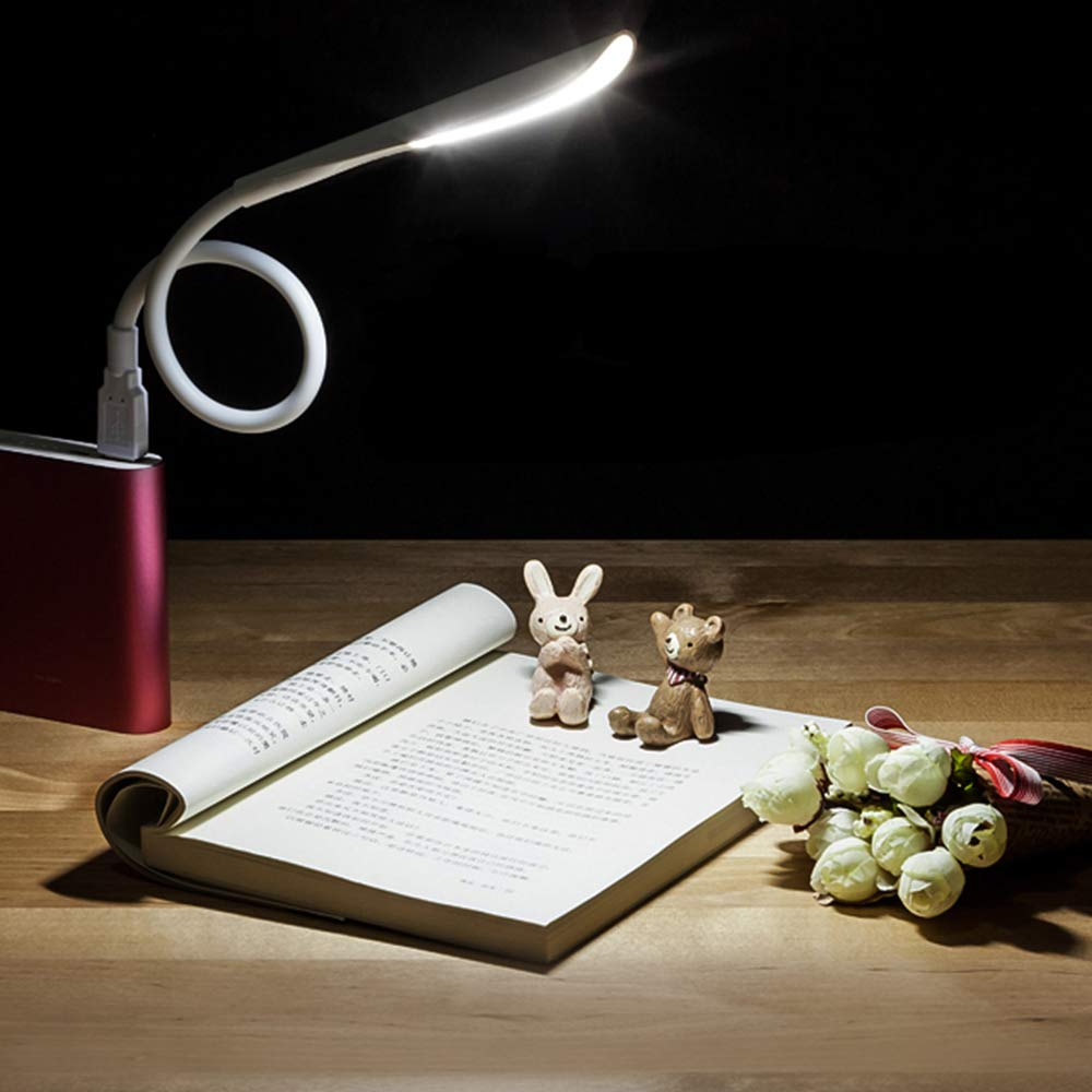 LEDNut USB LED Light Lamp with Touch Switch for Computer Keyboard PC Notebook Laptop Book Reading Lamp White