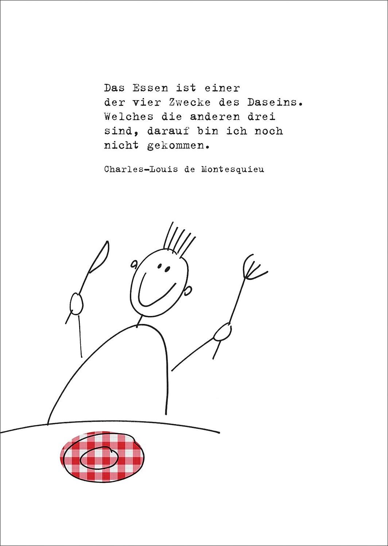 Moderne Einladungskarte zum Essen mit passendem Montesquieu Zitat ...