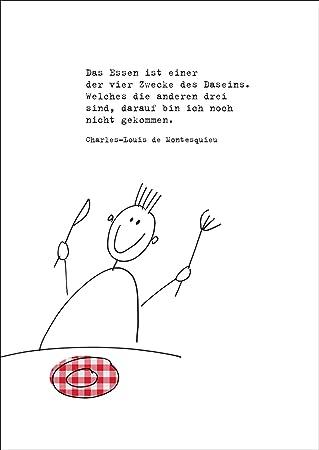 Moderne Einladungskarte Zum Essen Mit Passendem Montesquieu Zitat. U2022 Auch  Zum Direkt Versenden Mit Ihrem