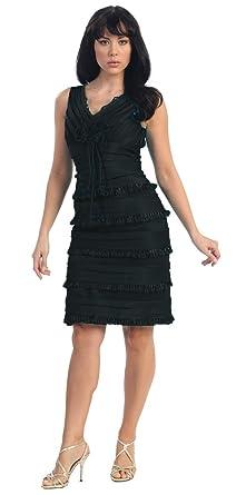 Short Cocktail Party Designer Prom Dress #681 (4, Black)