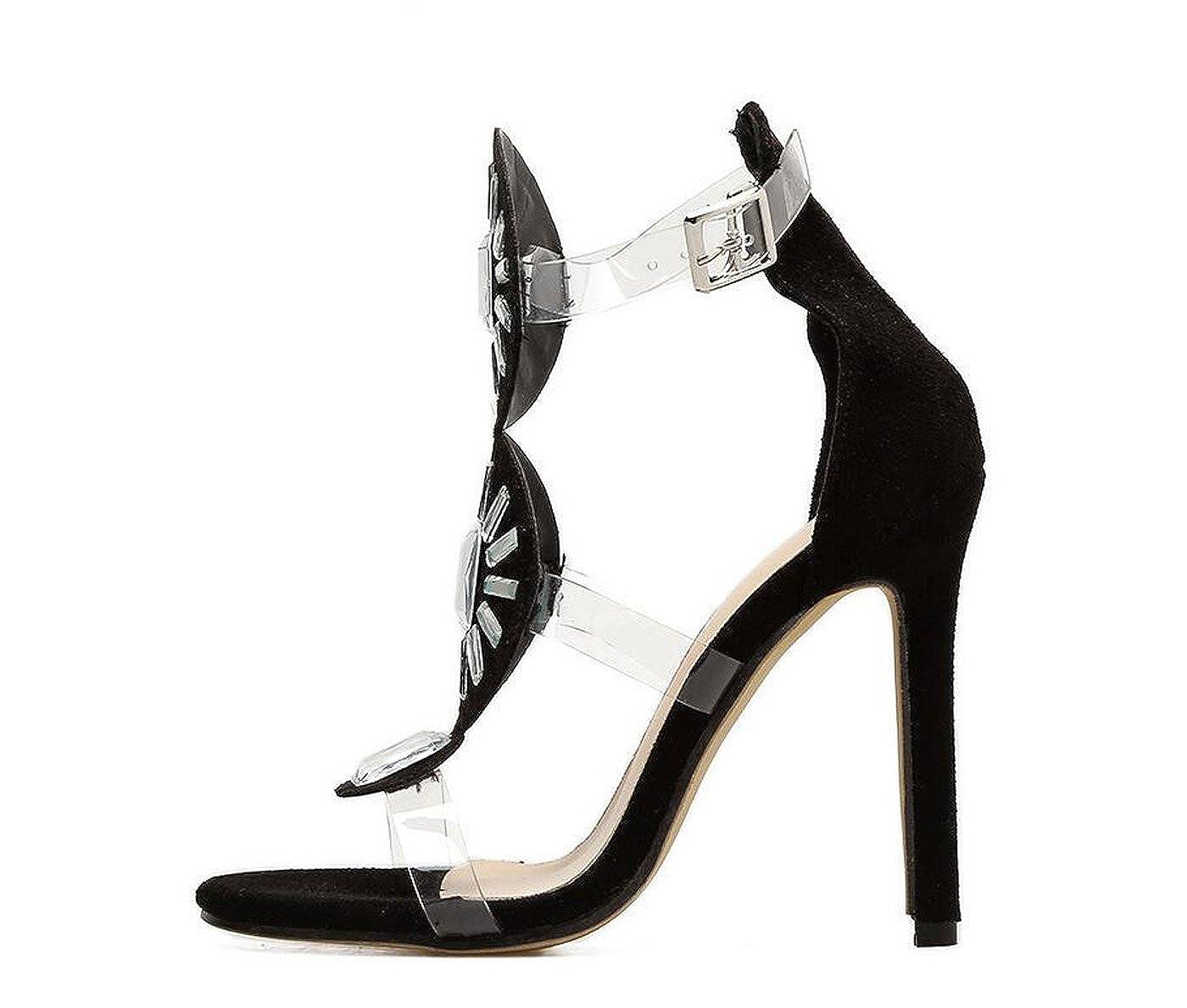 3764dfa0d0 Amazon.com | Women's High Heel Sandals Roman Exotic High Heels Summer  Luxury Club Shoes Outdoor Sandals | Heeled Sandals
