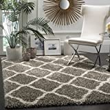 Safavieh SGH283B-7SQ Hudson Shag Collection and Ivory Square Area Rug, 7' Square, Grey