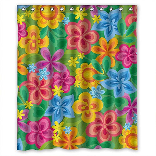 - MEDIE Polyester Flower Christmas Shower Curtains Width X Height / 72 X 72 Inches / W H 180 By 180 Cm Best Choice For Artwork Relatives Lover Mother Bf. Healthy - Fabric