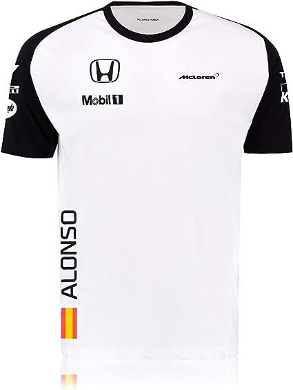 McLaren Honda F1 2015 – F. Alonso para hombre réplica Team Wear camiseta, hombre, blanco, XL: Amazon.es: Deportes y aire libre
