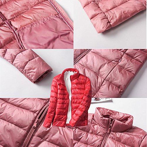 Cappuccio Colori Cappotto Bozevon Con Inverno Donne 6 Giù Giacca Ultralight Rosso Delle WYvOrf7qwY