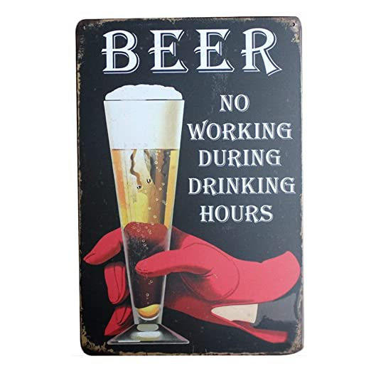 Doitsa 1x Cartel de Chapa Placa Metal, Tin Sign Beer, Bar ...