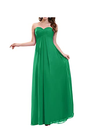 FASHION Womens Strapless models long Prom Dresses US2 green
