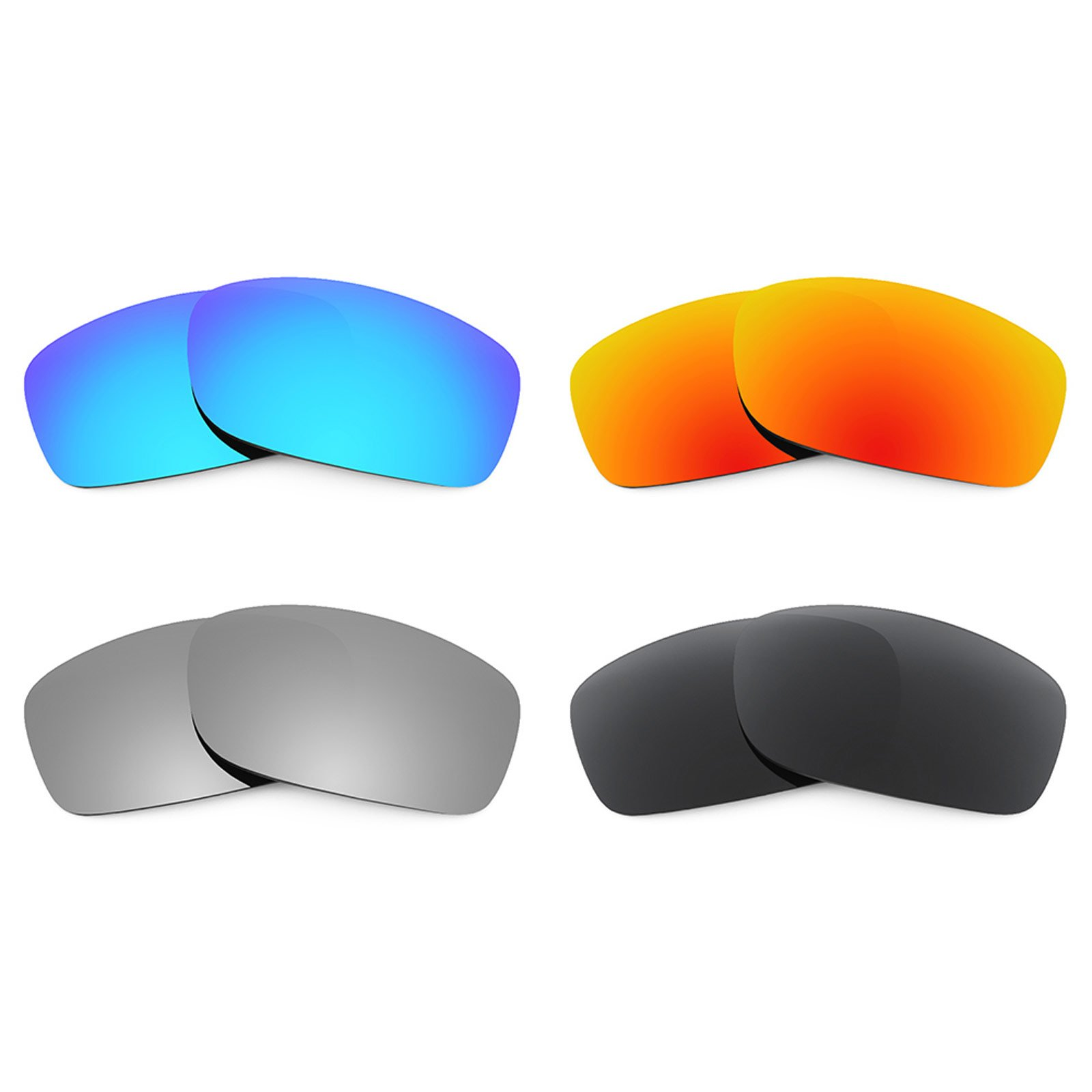 Revant Replacement Lenses for Oakley Fives Squared 4 Pair Combo Pack K018 by Revant