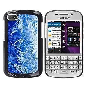 KOKO CASE / BlackBerry Q10 / azul naturaleza arte plantas forestales vida wallpaper / Delgado Negro Plástico caso cubierta Shell Armor Funda Case Cover
