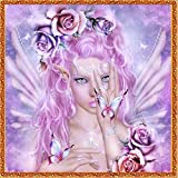 DIY Diamond Painting LuckyFine Fairy Goddess Needlework Crystal Painting Square Wall Sticker