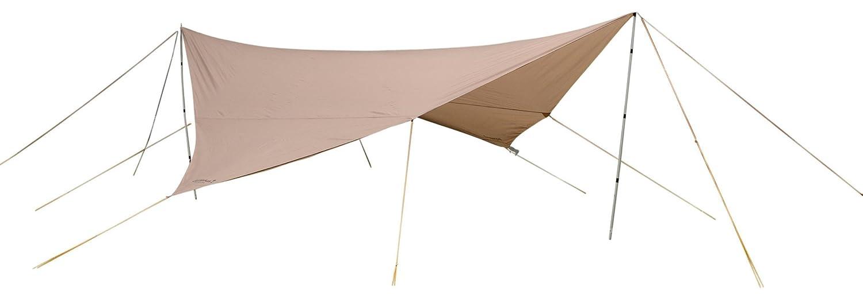 Eureka. Parawing – Karpfen und Planen – 350 x 350 cm beige 2016